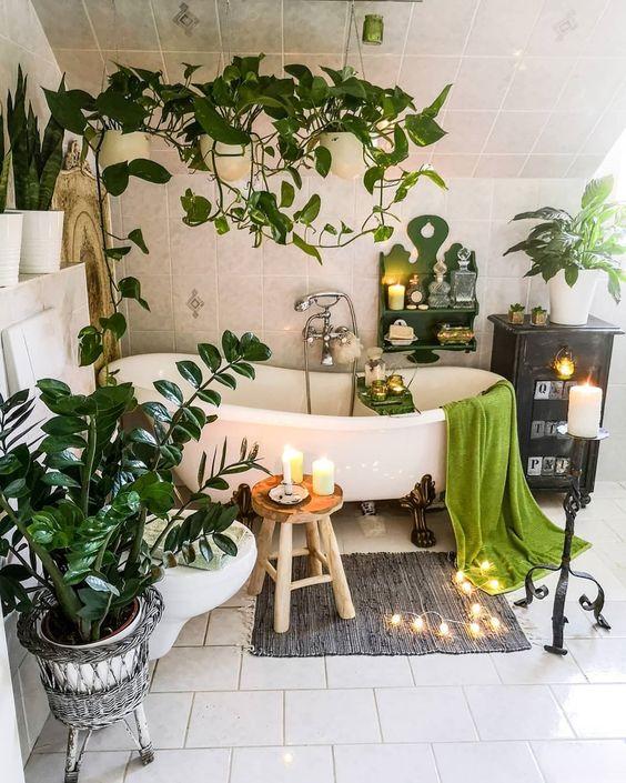 boho bathroom idea 11