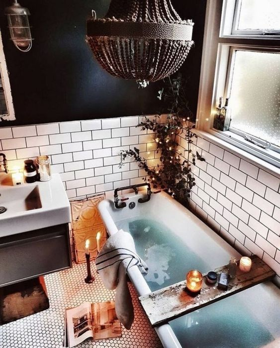 boho bathroom idea 13