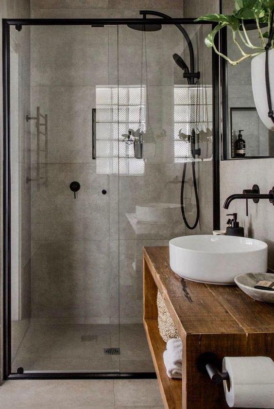 boho bathroom idea 14