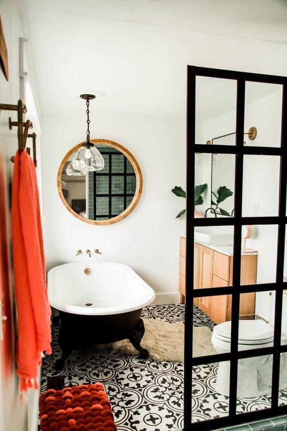 boho bathroom idea 15