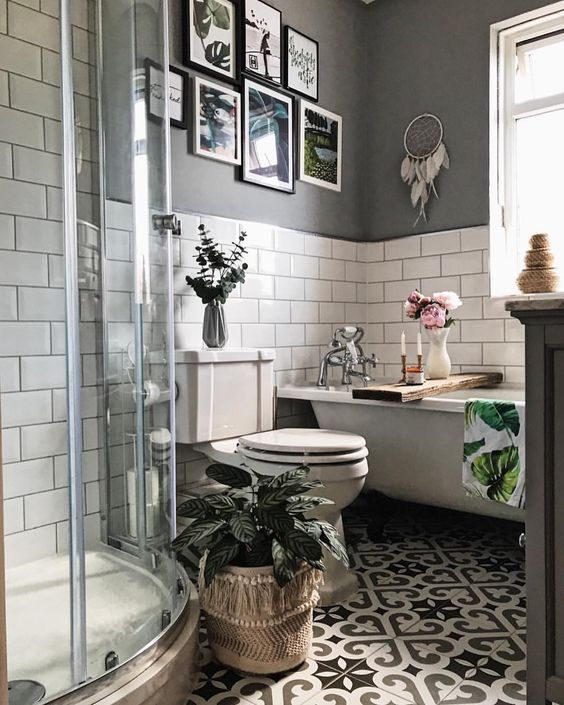 boho bathroom idea 18