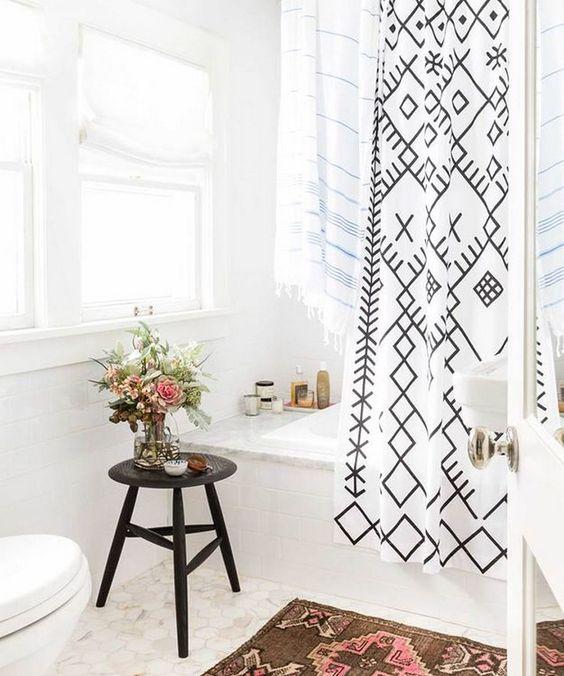 Boho Bathroom Ideas: Chic All-White Decor