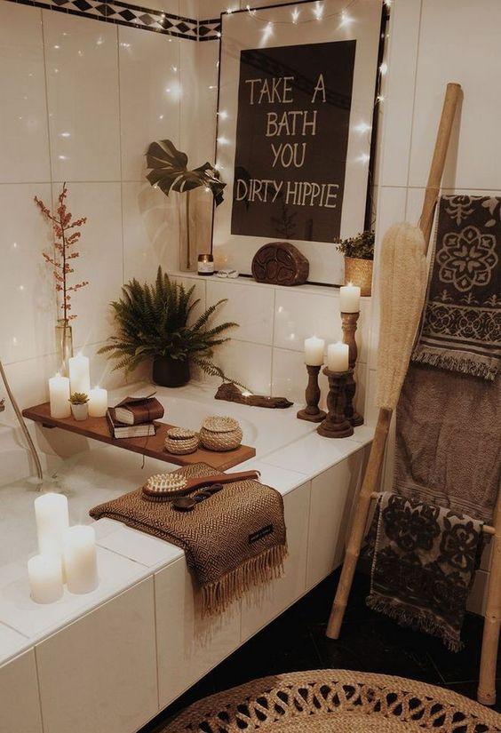 boho bathroom idea 9