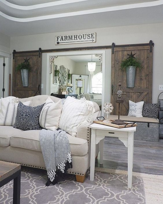 farmhouse living room 19