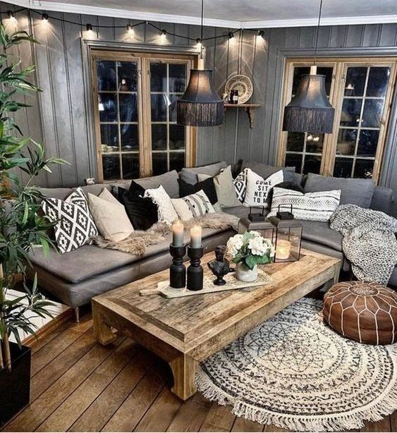 Farmhouse Living Room: Cathy Earthy Decor