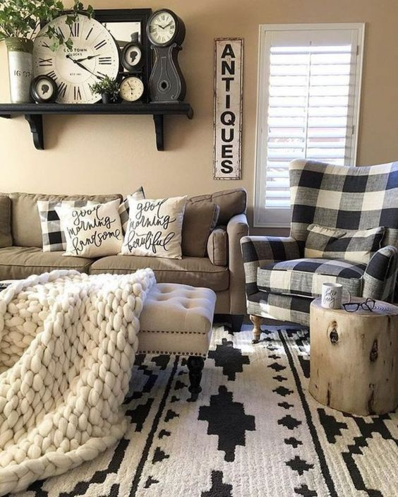 Farmhouse Living Room: Catchy Cozy Decor
