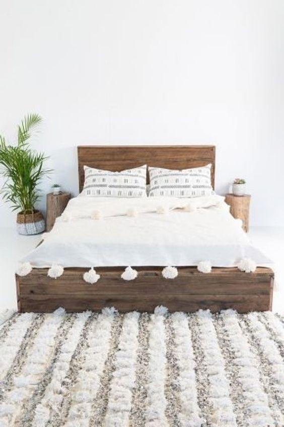 Small Master Bedroom: Simple Boho Decor