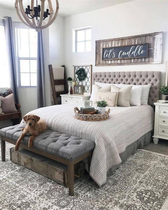 Small Master Bedroom: Elegant Farmhouse Decor
