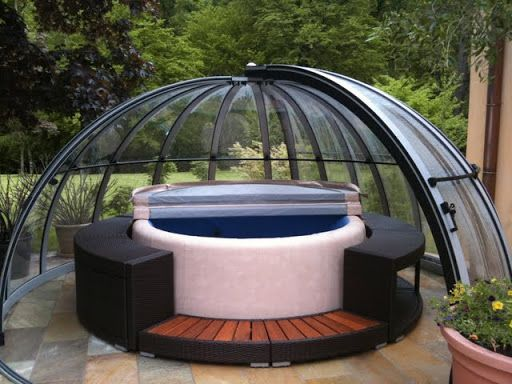 Hot Tub Enclosure Winter 15