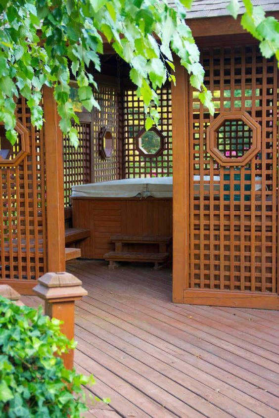 Hot Tub Enclosure Winter: Asian Inspired Design