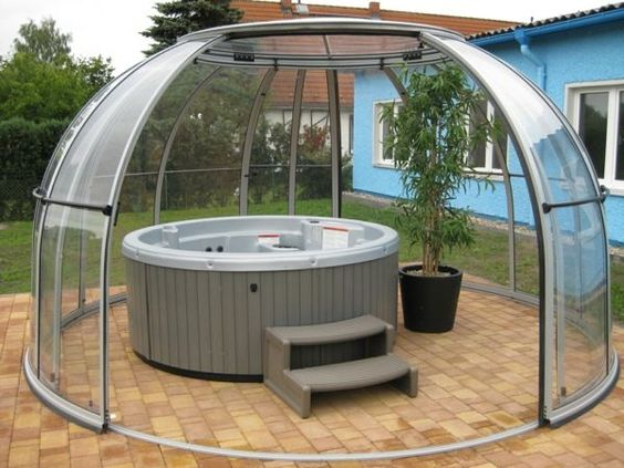Hot Tub Enclosure Winter 8