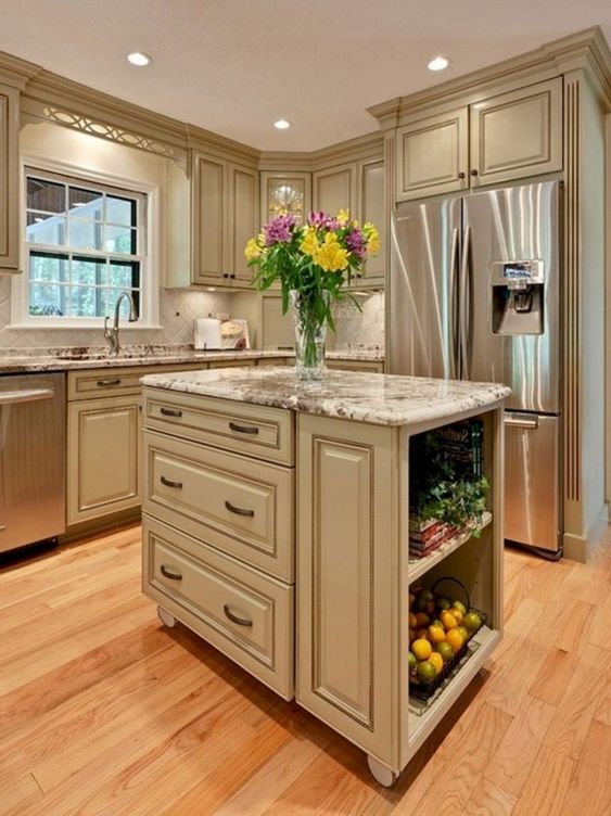 Small Kitchen Island: Elegant Classic Design