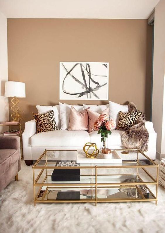Small Living Room: Stylish Glamour Decor