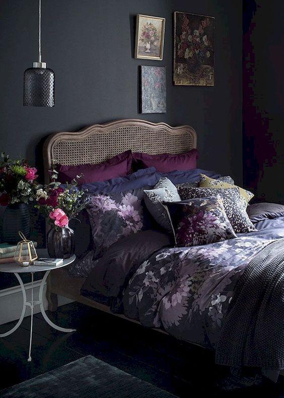 Dark Bedroom Ideas: Elegant Feminine Nuance