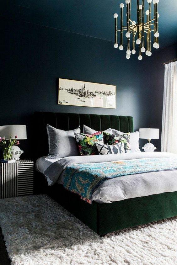 Dark Bedroom Ideas: Bold Eclectic Decor