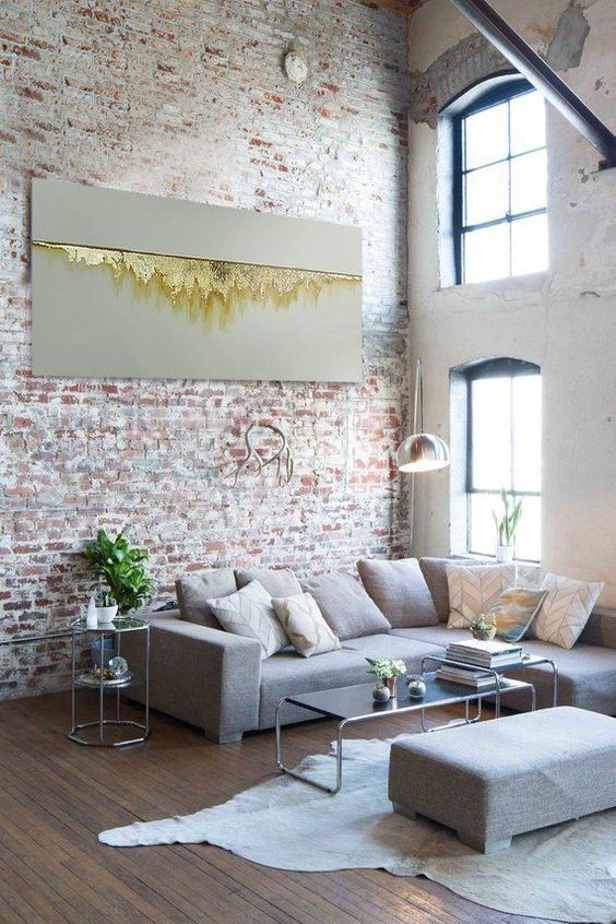industrial living room 10