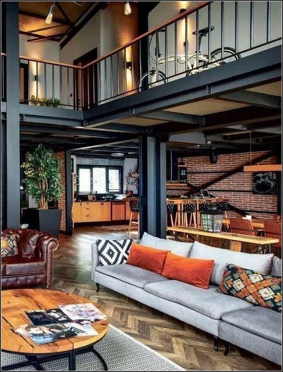 industrial living room 18