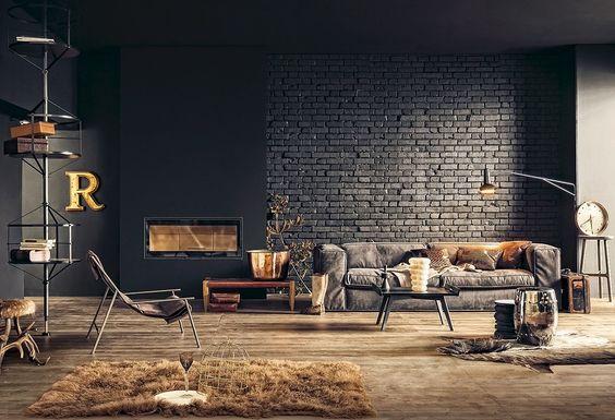 industrial living room 20