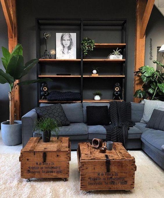 Industrial Living Room: Elegant Rustic Decor