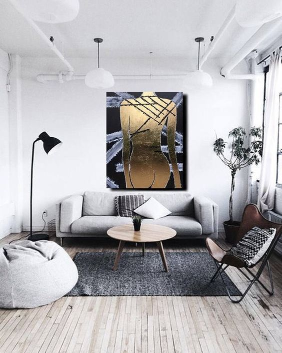 Industrial Living Room: Simple Stylish Decor
