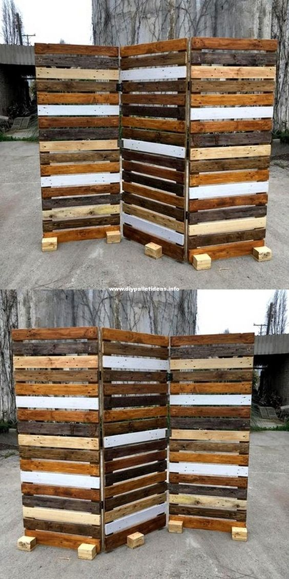 pallet fence ideas 13