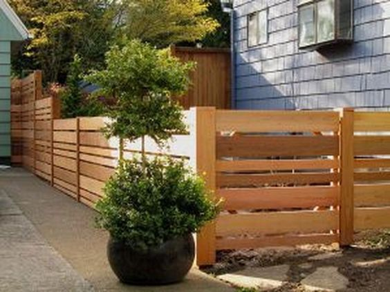 pallet fence ideas 21