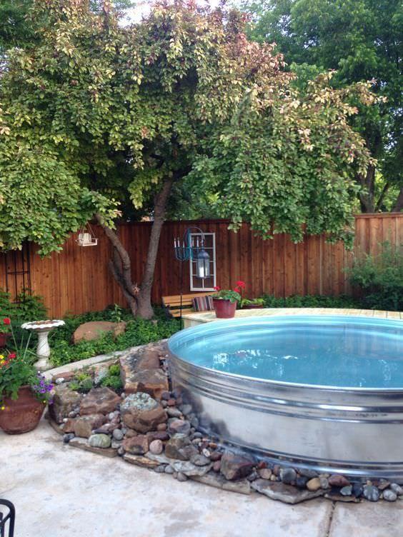 Stock Tank Pool: Gorgeous Earthy Decor