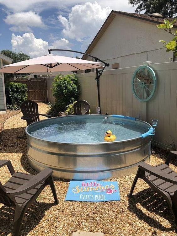Stock Tank Pool: Simple Cozy Decor