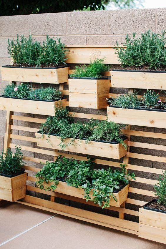 Backyard Decor Ideas: Rustic Vertical Garden