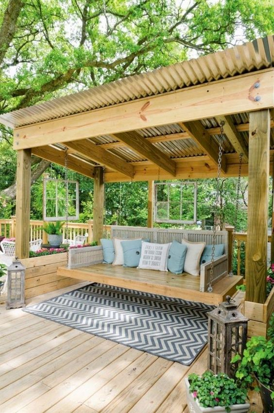 Backyard Pergolas Idea: Creative DIY Design