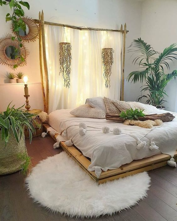 Bedroom Plants Ideas: Catchy Boho Decor