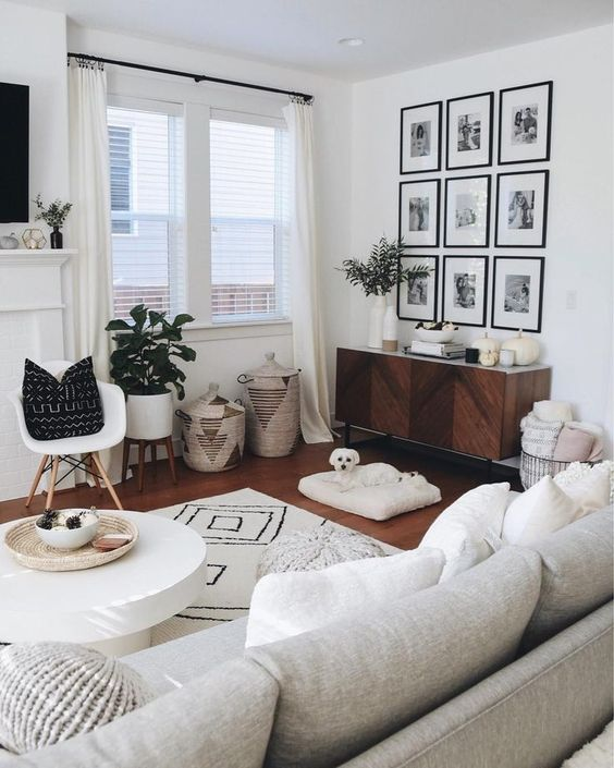 Bohemian Living Rooms: Gorgeous White Decor