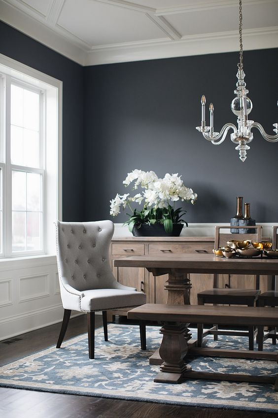 Dining Room Paint: Rustic Monochrome Style