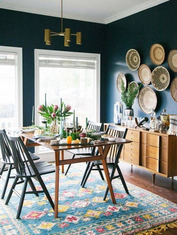 Dining Room Paint: Catchy Eclectic Decor