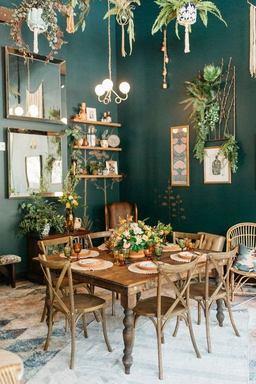 Dining Room Paint: Elegant Earthy Decor