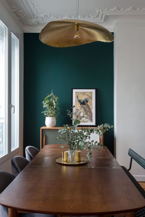 Green Dining Room Ideas: Elegant Transitional Decor