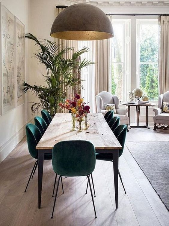 Green Dining Room Ideas 12