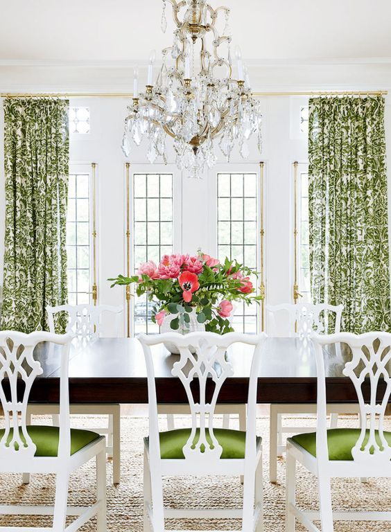 Green Dining Room Ideas 13