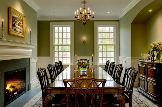 Green Dining Room Ideas 17