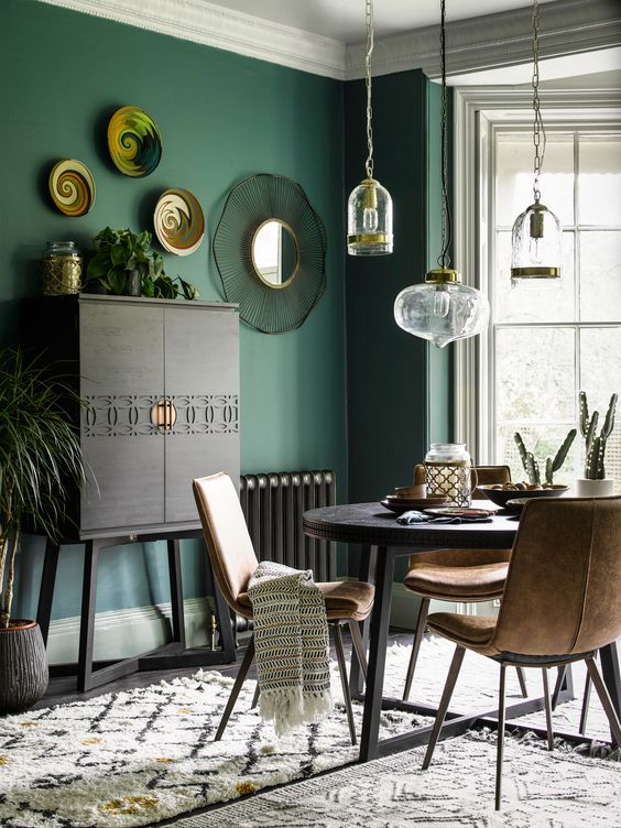 Green Dining Room Ideas: Catchy Boho Decor