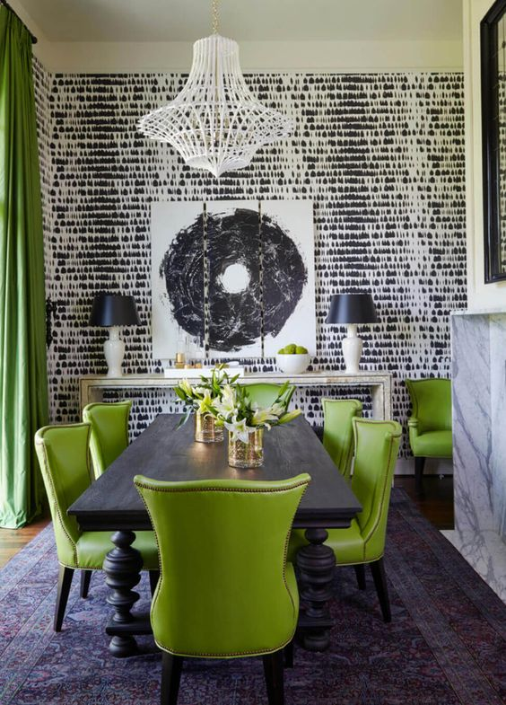 Green Dining Room Ideas: Unique Festive Decor
