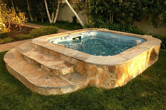 Hot Tub Landscaping 11