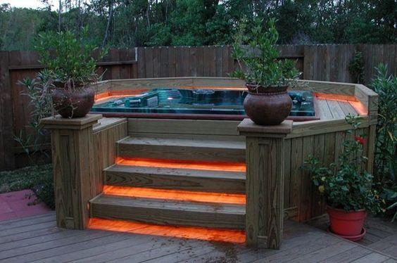 Hot Tub Landscaping 12