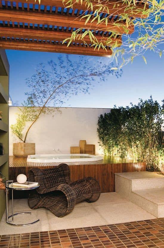 Hot Tub Landscaping 16