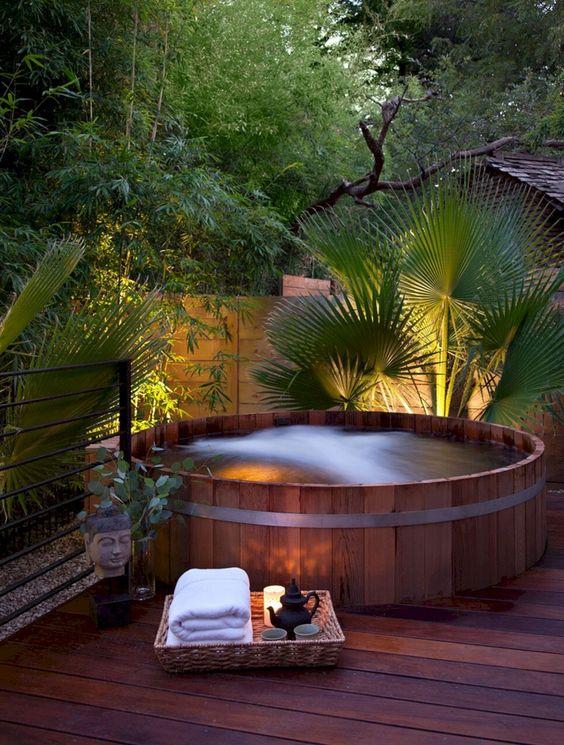 Hot Tub Landscaping 18