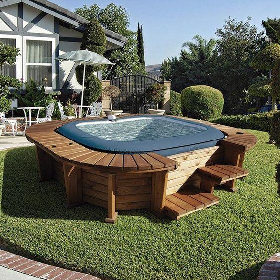 Hot Tub Landscaping 19