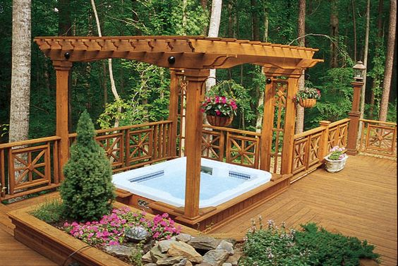 Hot Tub Landscaping 20