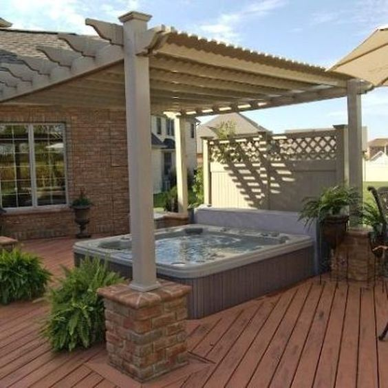 Hot Tub Landscaping: Modern Rustic Decor