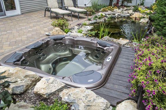 Hot Tub Landscaping: Beautiful Earthy Decor