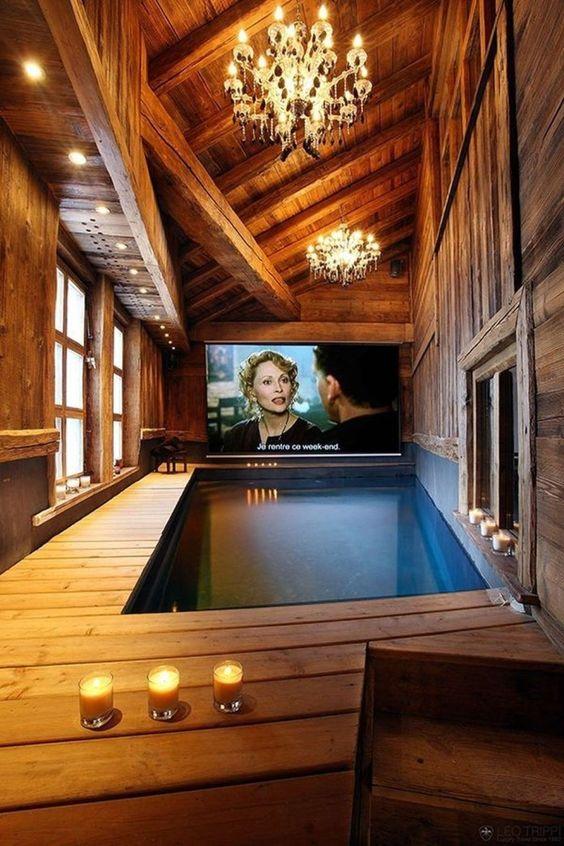Indoor Swimming Pool Ideas: Glamour Rustic Decor